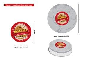 Desain Packaging Logo Diandra Cookies